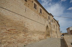 Visit at Moresco, Fermo county, exterior walls Stock Image