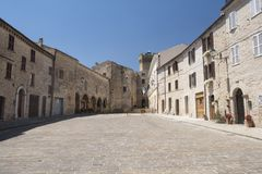 Moresco Fermo, Marches, italy. Old typical buildings in the historic town Stock Photography