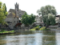Moret-sur-Loing ( France ) Royalty Free Stock Image