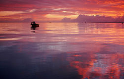 Moreton Bay. Sunrise over Moreton Bay, Queensland Australia Royalty Free Stock Image