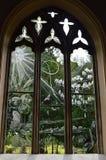 Moreton Church Engraved Windows Stock Photography