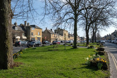 MORETON-IN-MARSH, GLOUCESTERSHIRE/UK - MARCH 24 : Sunny Spring D. Ay in Moreton-in-Marsh in Gloucestershire on March 24, 2017 Royalty Free Stock Images