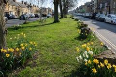 MORETON-IN-MARSH, GLOUCESTERSHIRE/UK - MARZEC 24: Pogodny wiosna d Zdjęcie Stock