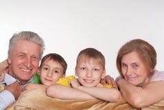 morföräldersonsöner Royaltyfri Foto