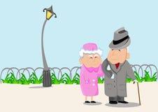 Morföräldrar stock illustrationer