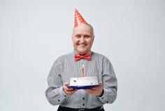 Morfar för lycklig födelsedag Arkivfoton