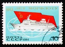 Morflot, comerciante e frota do transporte, 60th aniversário, cerca de 1 Fotos de Stock