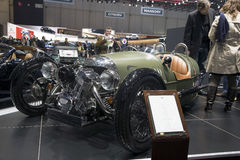 Morgan 3 Wheeler at Geneva Motorshow Royalty Free Stock Image