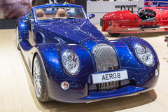 2015 Morgan Aero 8. Geneva, Switzerland - March 4, 2015: 2015 Morgan Aero 8 presented on the 85th International Geneva Motor Show Stock Photography