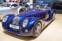 2015 Morgan Aero 8. Geneva, Switzerland - March 4, 2015: 2015 Morgan Aero 8 presented on the 85th International Geneva Motor Show Royalty Free Stock Images