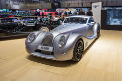 2015 Morgan Aero 8. Geneva, Switzerland - March 4, 2015: 2015 Morgan Aero 8 presented on the 85th International Geneva Motor Show Royalty Free Stock Photo