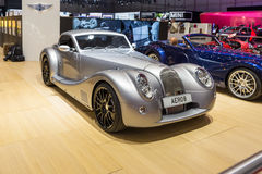 2015 Morgan Aero 8. Geneva, Switzerland - March 4, 2015: 2015 Morgan Aero 8 presented on the 85th International Geneva Motor Show Stock Image