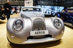 Morgan Aero 8, Motorshow Geneve 2015 Royalty-vrije Stock Foto