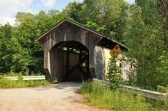 Morgan Bridge. Morgan covered bridge, also known as the Upper Bridge, in Belvidere, Vermont stock images