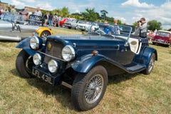 Morgan Car azul clásico Imagen de archivo libre de regalías