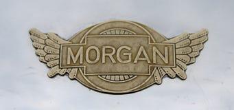 Morgan car badge. A morgan car badge on a classic old vintage car royalty free stock image