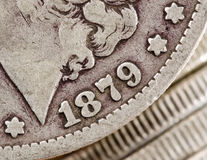 Morgan Dollar 1879 Royalty Free Stock Photography