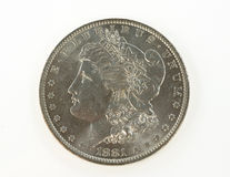 Morgan-Dollar Stockbilder