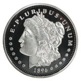 Morgan Dollar-Münze Stockfoto