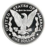 Morgan Dollar-Münze Lizenzfreies Stockbild