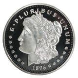 Morgan Dollar-muntstuk stock foto