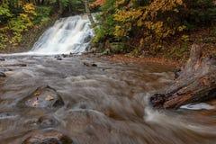 Morgan Falls en Marquette Michigan image libre de droits