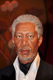 Morgan Freeman. Wax statue of Morgan Freeman, Hollywood celebrity and actor, image taken at the Madame Tussauds museum at Hollywood, Los Angeles, California royalty free stock images
