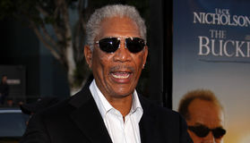 Morgan Freeman. Attends the World Premiere of `The Bucket List` held at the ArcLight Theater in Hollywood, California, United States on December 16, 2007 royalty free stock images