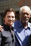 Morgan Freeman,Christian Bale Stock Photo