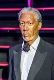 Morgan Freeman Figurine At Madame Tussauds-Wasmuseum royalty-vrije stock foto