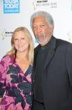 Morgan Freeman,Lori McCreary Stock Images