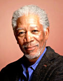 Morgan freeman portrait digital painting Stock Photos