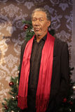 Morgan Freeman. Wax statue at Madame Tussauds in London stock photos