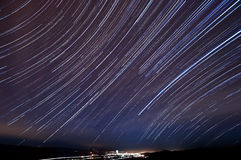 Morgan Hill Star Trails Royalty Free Stock Photography