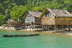 Morgan Hut, Surin-Eilanden nationaal park, Thailand Royalty-vrije Stock Foto