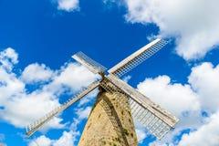 Morgan Lewis Mill in Barbados - op tropisch Caraïbisch eiland - was de laatste werkende molen op het eiland en werd verondersteld royalty-vrije stock afbeelding