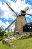 The Morgan Lewis Mill in Barbados - on tropical caribbean island - was the last working mill on the island and was believed to be royalty free stock photos