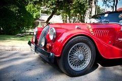 Morgan mais 8 na parada do carro do vintage Fotografia de Stock