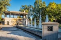 Morgan park (Montreal). Public refreshing fountain Morgan park in Montreal, Quebec, Canada stock image