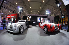 Morgan pavilion. Road to Chinas West - 15th Chengdu Motor Show, September 1th-9th, 2012 stock image