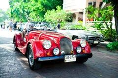 Morgan plus 8 auf Weinlese-Auto-Parade Lizenzfreies Stockbild