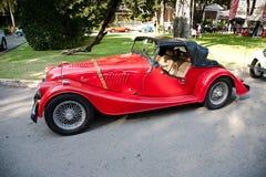 Morgan Plus 8 on Vintage Car Parade. HUA HIN - DECEMBER 18: Morgan Plus 8 , 2003 year. Retro Car on Vintage Car Parade 2010 at Sofitel Resort on December 18 royalty free stock photo