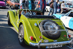 Morgan Plus 4 roadster classic car rear Royalty Free Stock Photography