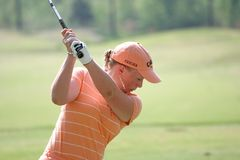 Morgan Pressel, excursão de golfe de LPGA, Stockbridge, 2006 Fotos de Stock Royalty Free