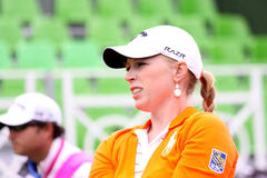Morgan Pressel (USA) Evian Masters 2011 Royalty Free Stock Photos