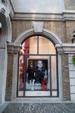 Morgan shoppar på den Han gatan Arkivbild