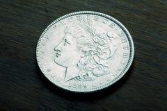 Morgan Silver Dollar Royalty Free Stock Photo