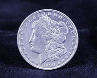 Morgan Silver Dollar 1890 Fotografia de Stock
