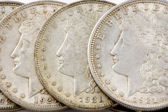 Morgan silver dollar Royalty Free Stock Photo