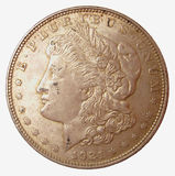 Morgan Silver Dollar. 1921 Morgan Silver Dollar. High Detail Stock Photos